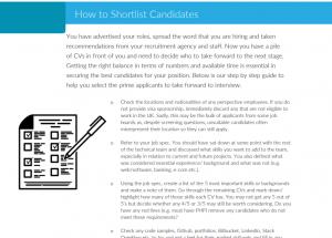 Shortlisting Candidates
